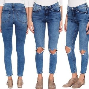 NWT Free People Busted Knee High Waist Jeans